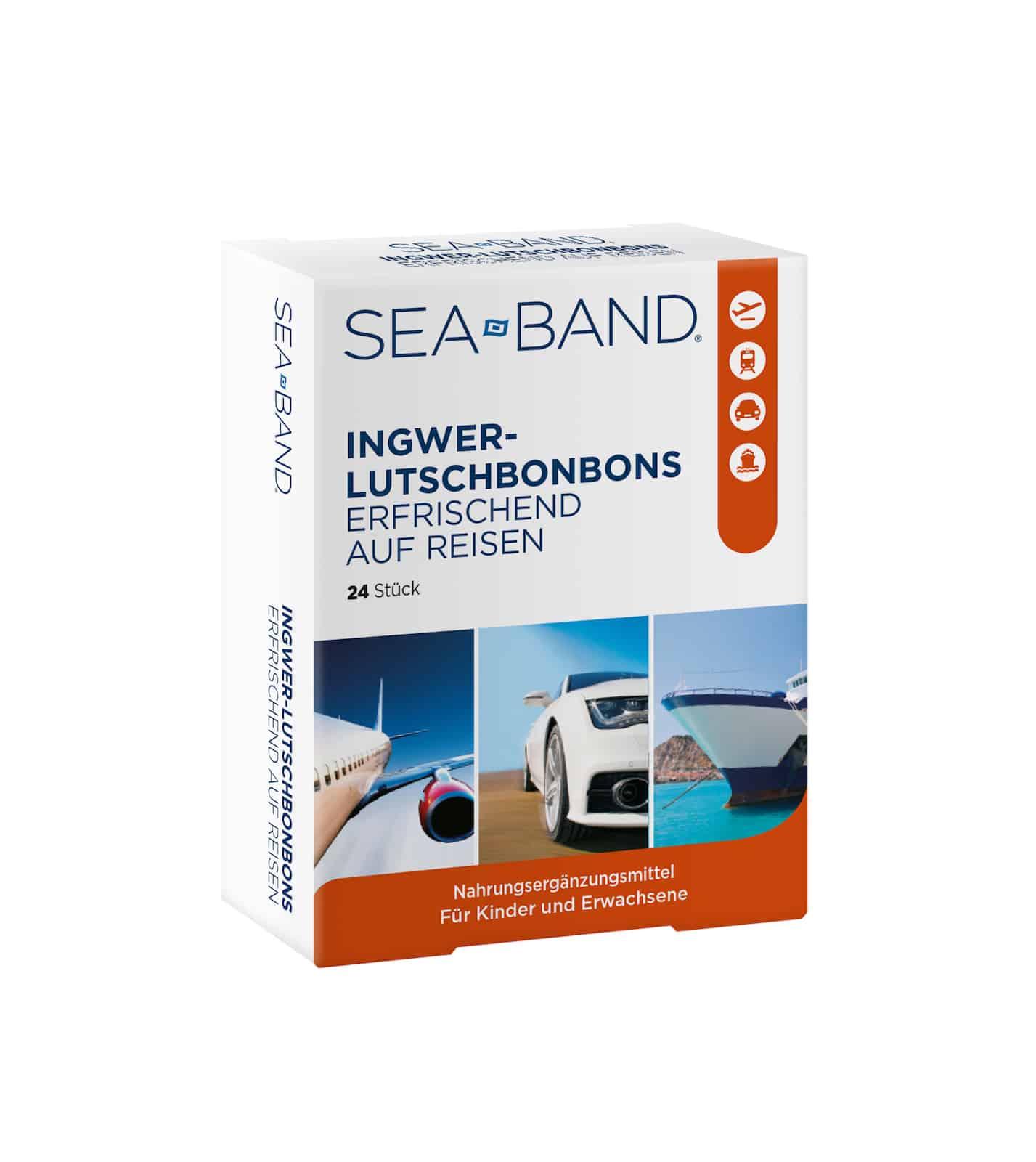 SEA-BAND Ingwer Lutschbonbons - Erfrischend auf Reisen