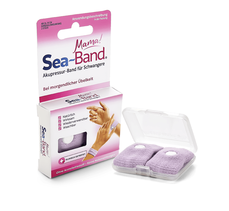 Sea-Band Akupressurbänder gegen Übelkeit für Kinder, rosa